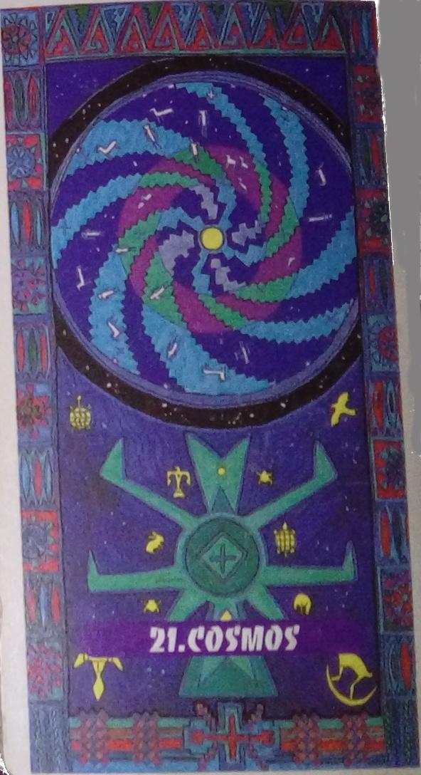 Tarot indien Lame 21 Cosmos