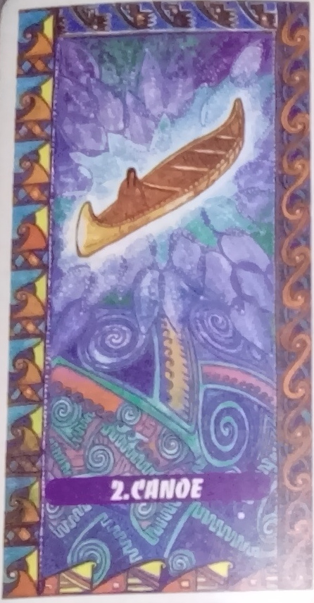 Tarot indien Lame 2 Canoe