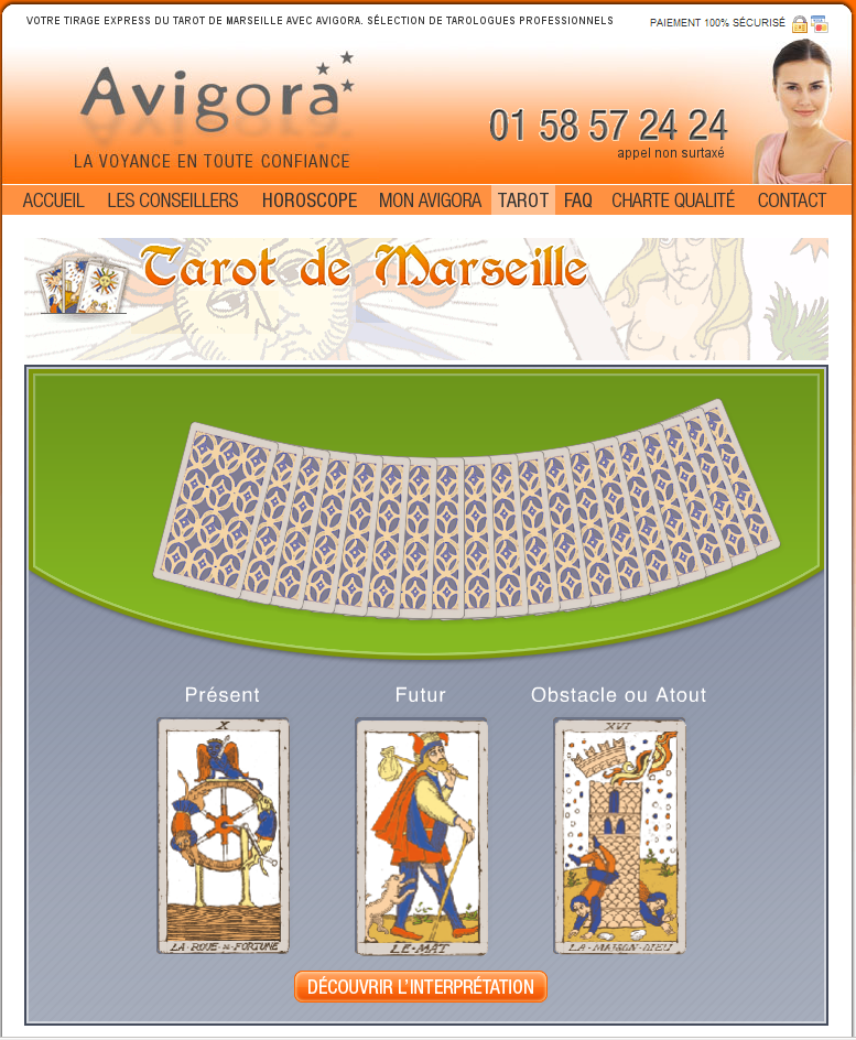 tirage de tarot de marseille tarologie avigora. Black Bedroom Furniture Sets. Home Design Ideas