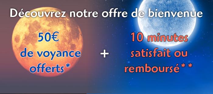 50€ offerts et 10 minutes gratuites