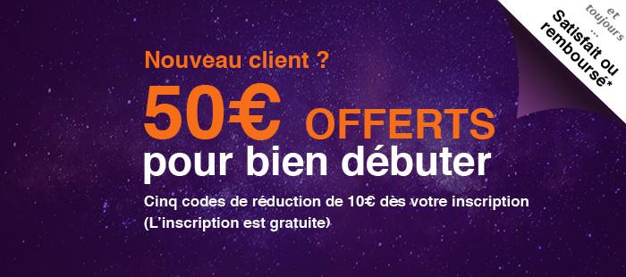 50€ offerts